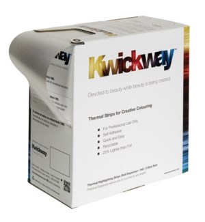 KWICKWAY Silver Thermal Highlighting Strip Roll 445x3-3/4 Inch