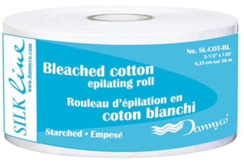 Bleaced Cotton Epilating Roll 2.5ix120