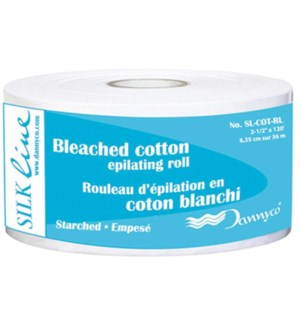 Bleaced Cotton Epilating Roll 2.5ix120