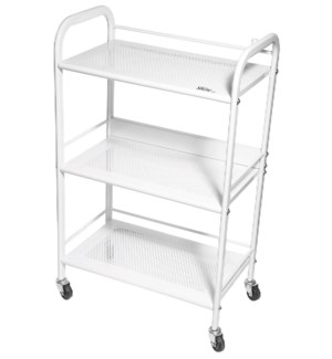Spa Trolley w/ 3 Metal Vented Shelves