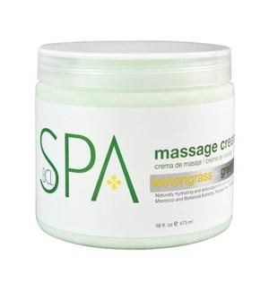 BCL Lemongrass & Green Tea Massage Cream 16oz
