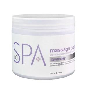 BCL Lavender & Mint Massage Cream 16oz