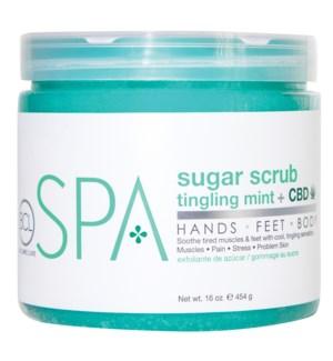 BCL SPA 16 Oz. Sugar Scrub Tingling Mint + CBD