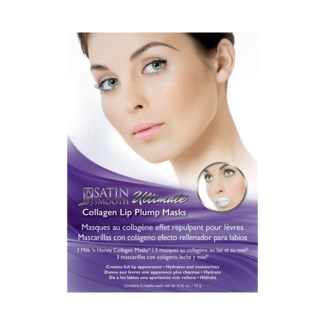 SATIN SMOOTH Collagen Lip Plump Mask, 3 Masks/Box, (Sold by Case)