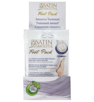 SATIN SMOOTH  Intensive Moisturizing Treatment for Feet Display 24pcs