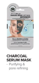 SATIN SMOOTH Detox Charcoal Serum Mask 24/Box