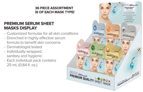 36pc SS Serum Mask Display