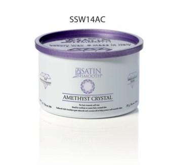 SATIN SMOOTH Amethyst Crystal Soft Wax 14oz