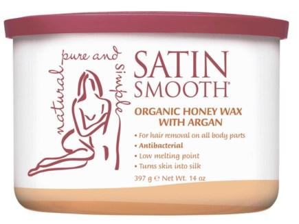 SATIN SMOOTH Organic Honey Wax W/Argan Oil