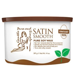 SATIN SMOOTH Depilatory Organic Soy Cream Wax 14oz