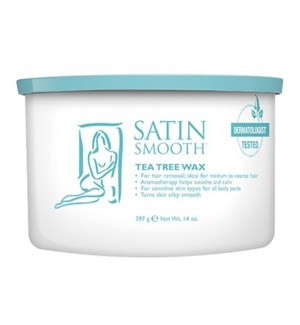 SATIN SMOOTH Tea Tree Cream Wax w/ Eucalyptus 14oz CR12