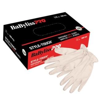 Medium Disposable Style Touch Vinyl Gloves