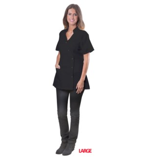 Black Coverall Jacket, Large, Polyester