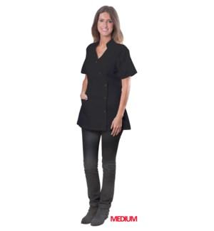 Black Coverall Jacket, Medium, Polyester