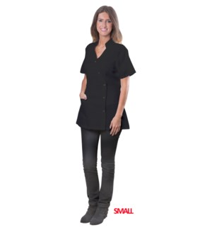 Black Coverall Jacket, Small, Polyester