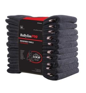 Black Microfiber Towel 10pk BESTOWELMUCC