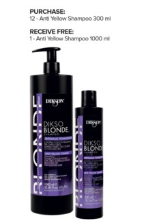 ! 12+1 DIKSO Blonde Anti Yellow Shampoo