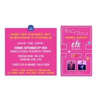 BIG TEASE Advance Ticket SEPT 22/2019