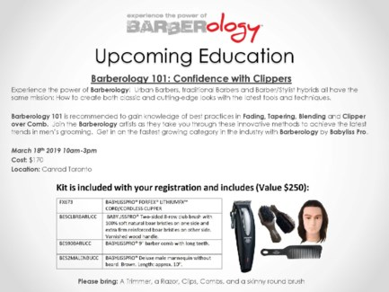 DAN BARBEROLOGY 101 MAR 18/19 TORONTO