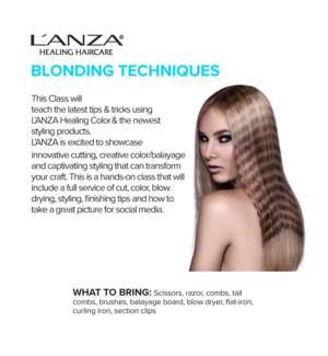 LNZ BLONDING TECHNIQUES OCT 7/19 LONDON