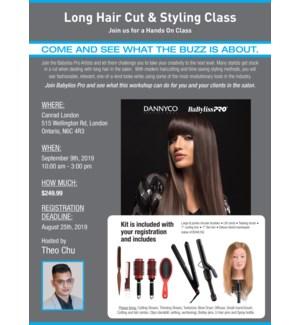 DAN Long hair class with THEO SEPT 9/19 LONDON