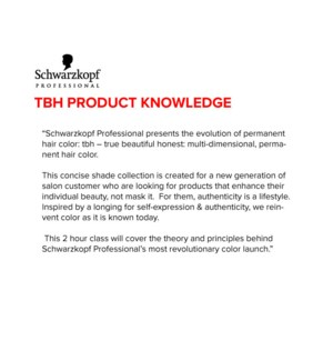 SCH TBH Product Knowledge Sept 16/19 LONDON