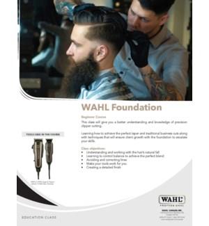 WAHL FOUNDATION CLASS MAR 3/2020 LONDON