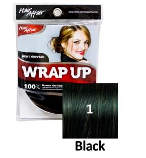 HH #1 Black Wrap Up Bun EXTENSION