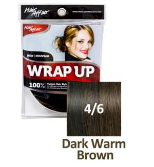 HH #4/6 Dark Warm Brown Wrap Up Bun EXTE