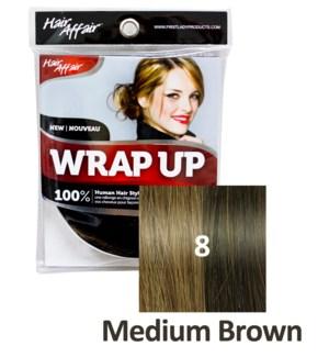HH #8 Medium Brown Wrap Up Bun EXTENSION