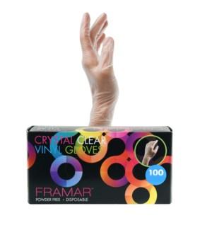 Crystal Clear Gloves Medium 100Box GLV-CC-MED