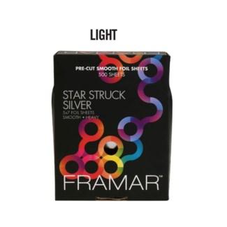 500 Star Struck Slver Lgt 5x7 Foil SMOOTH PCS-57-LSIL