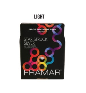 ** 500 Star Struck Slver Lgt 5x7 Foil SMOOTH PCS-57-LSIL