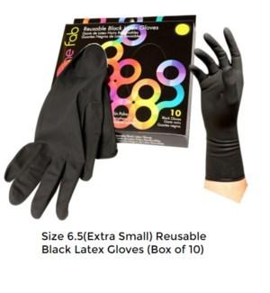 10pk Color Me Fab Gloves SZ 6.5 LATEX RLG-65-10PC