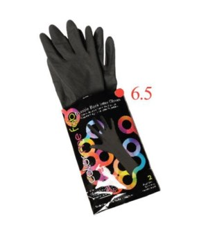 2pk Color Me Fab Gloves SZ 6.5 LATEX