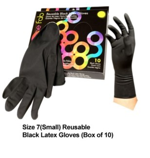 10pk Color Me Fab Gloves SZ 7 LATEX