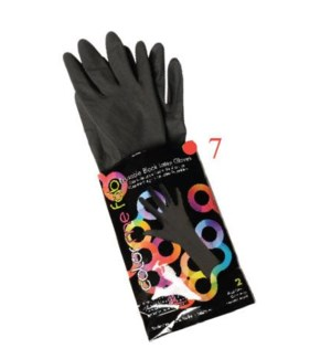 2pk Color Me Fab Gloves SZ 7 LATEX CR24