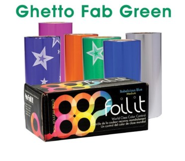 * 1lb Roll Ghetto Fab Green Medium FOIL