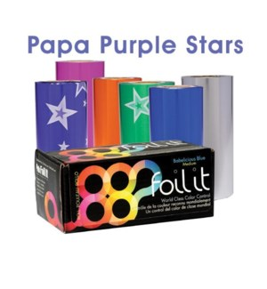 *BF 1lb Roll Papa Purple Stars Medium FOIL
