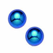 Titanium Blue 4mm Ball Anodized EARRING