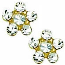 24K GP Crystal W/Crystal April EARRING