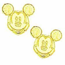 24KT Mickey Mouse Earrings
