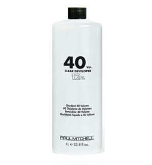 Litre 40 Volume Clear Developer PM 33.8oz