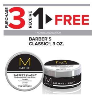! 3+1 Mitch Barber's Classic MA2020