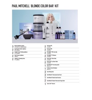 *BF Paul Mitchell Blonde Color Bar Kit