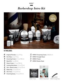 *HO MVRCK Barbershop Intro Kit