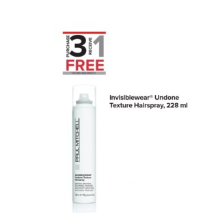 ! 3+1 228ml INVISIBLEwear Texture Hairspray SO2020
