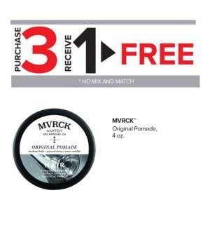 !  3+1 MVRCK Original Pomade 3 oz MA2020