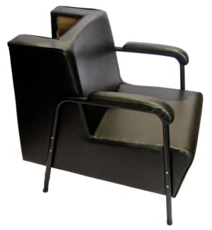 Dryer Chair W/Black Metal Arm