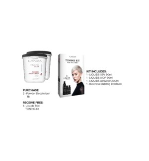 ! 1+1 LNZ 450g Powder Decolorizer + DEMI Toning Kit JA19